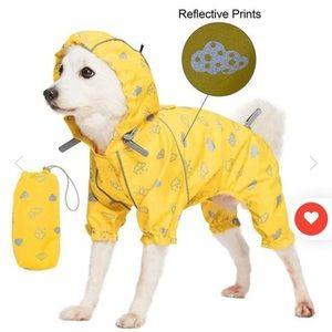 Waterproof Sunflower Yellow Dog Raincoat